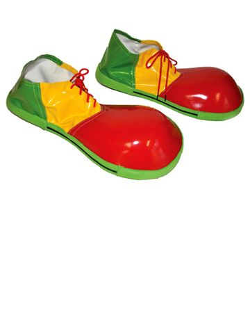Adult Red/Green Clown Shoes