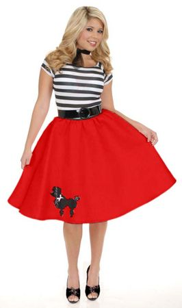 Adult Red Poodle Dress