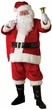 Adult Red Premier Plush Santa Claus Suit