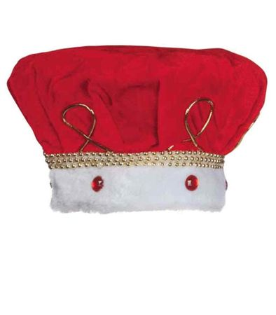 Adult Red Velvet King Crown