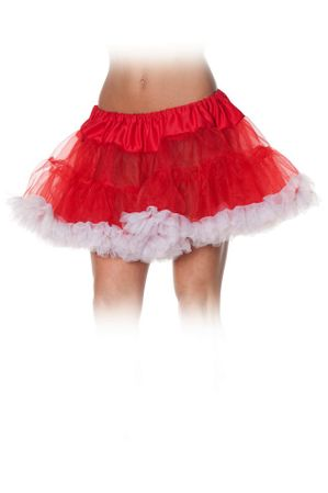 Adult Red/White Tulle Petticoat