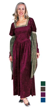 Adult Renaissance Queen Costume - More Colors