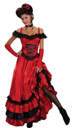 Adult Saloon Sweetie Costume, Size M/L