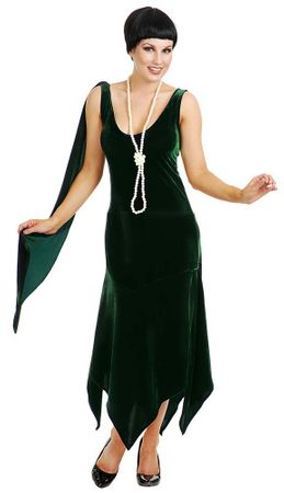 Adult Sandy Speakeasy Green Velvet Flapper Costume