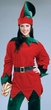 Adult Santa's Elf Costume Tunic and Hat