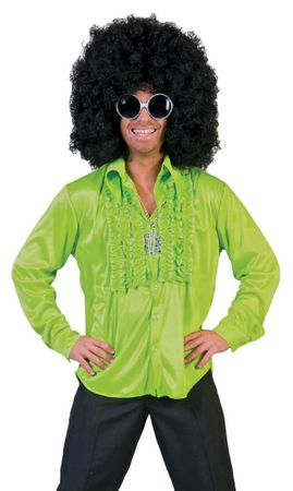 Adult Saturday Night Lime Green Disco Shirt