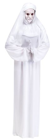 Adult Scary Mary Ghost Nun Costume, Size M/L