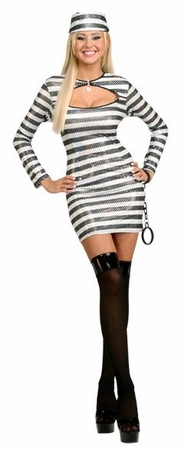 Adult Sequin Prisoner of Love Costume
