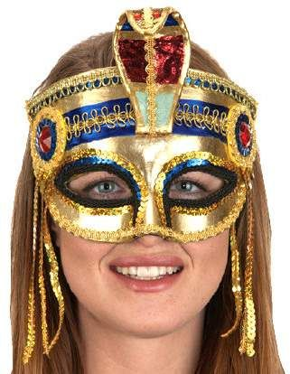 Adult Sequined Cleopatra Mask