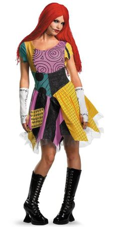 Adult Sexy Nightmare Before Christmas Sally Costume, Size Small