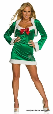 Adult Sexy Snow Flirt Santa's Helper Costume
