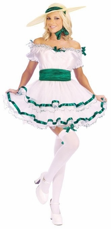 Adult Sexy Southern Belle Costume, Size S/M
