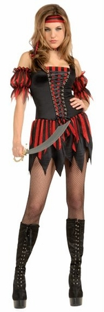 Adult Sexy Swashbuckler Costume, Size Small