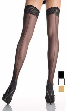 Adult Sheer Back Seam Thigh Highs - More Colors
