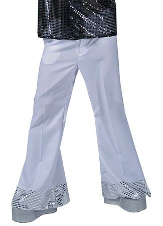 Adult Silver Stardust Sequin Disco Pants