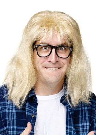 Adult SNL Garth Algar Wig and Glasses