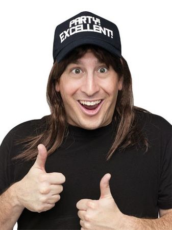 Adult SNL Wayne Campbell Wig and Hat
