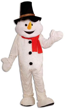 Adult Snowman Plush Mascot Costume