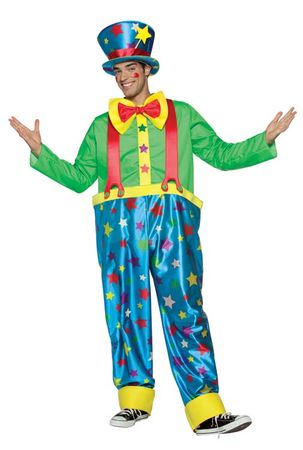 Adult Star Clown Costume