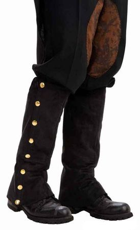 Adult Steampunk Black Spats