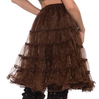 Adult Steampunk Brown Crinoline Underskirt