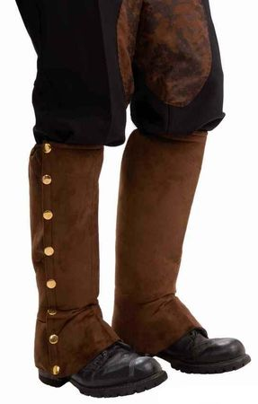 Adult Steampunk Brown Spats