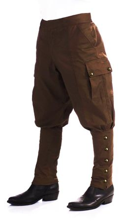 Adult Steampunk Costume Pants - Brown, Size M/L