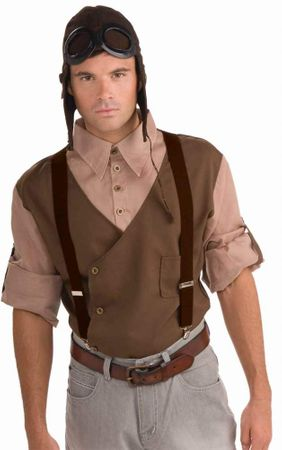 Adult Steampunk Dark Brown Suspenders
