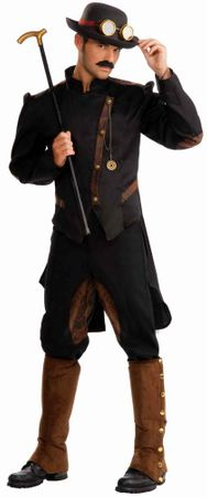 Adult Steampunk Gentleman Costume, Size M/L