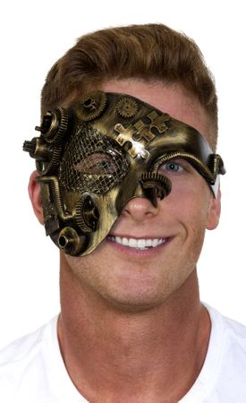 Adult Steampunk Half Mask
