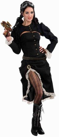 Adult Steampunk Renegade Victorian Woman Costume, Size M/L