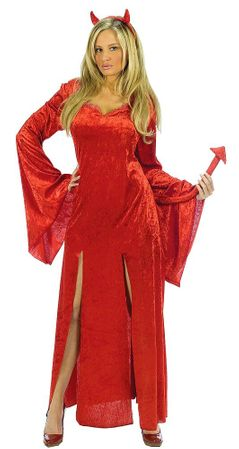 Adult Sultry Devil Costume, Size S/M
