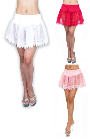Adult Teardrop Lace Petticoat - More Colors