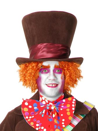 Adult Theatrical Quality Mad Hatter Top Hat
