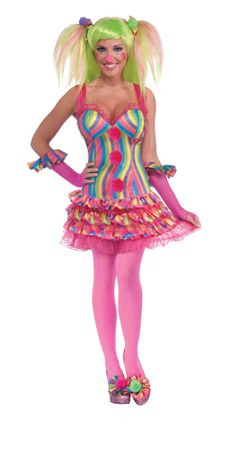 Adult Tootsie the Clown Costume, Size M/L