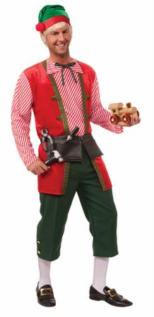 Adult Toy Maker Elf Costume, Size M/L
