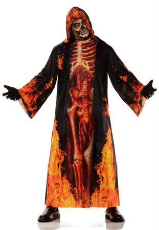 Adult Underworld Burning Skeleton Costume