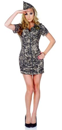 Adult US Army Camo Dress Costume