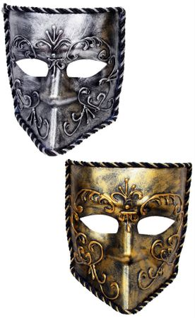 Adult Gold Venetian Knight Mask
