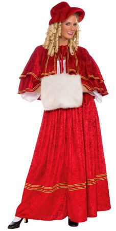 Adult Victorian Christmas Caroler Costume, Size M/L
