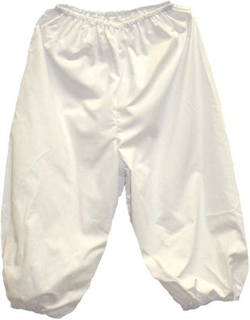 Adult White Colonial Knicker Pants