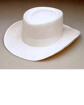 a84c0197f31985 Adult White Gambler Hat - Candy Apple Costumes - Wild West Costumes
