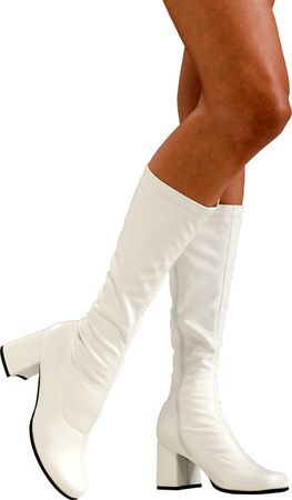 Adult White Go Go Knee Boots