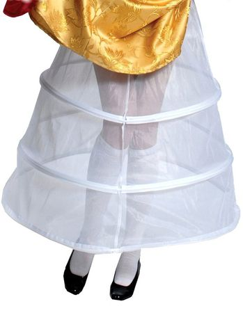 Adult White Hoop Skirt Petticoat