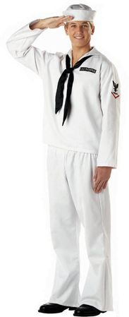 Adult White Sailor Costume
