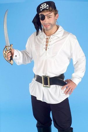 Adult White Swashbuckler Shirt, Size M/L