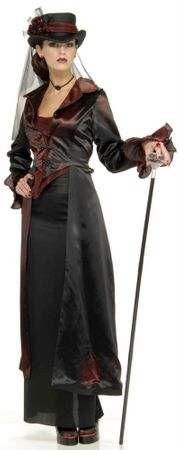 Adult Widow Maker Victorian Vamp Costume, Size M/L