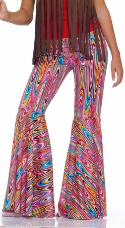 Adult Wild Swirl Bell Bottom Pants, Size M/L