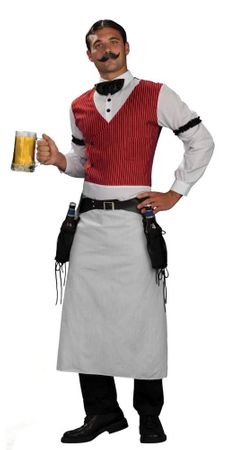 Adult Wild West Bartender Costume, Size M/L