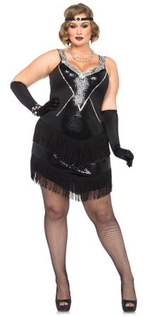 Adult Women's Plus Size Glamour Flapper